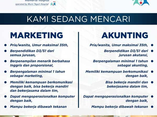 Lowongan Marketing & Akunting