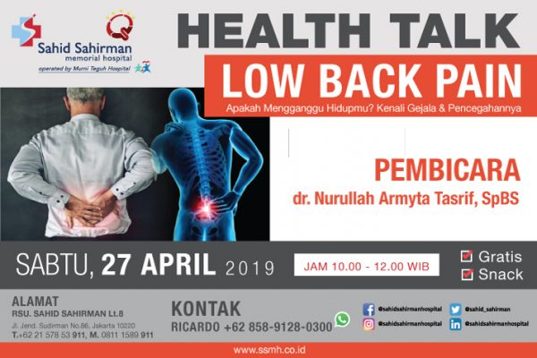 HEALTH TALK LOW BACK PAIN